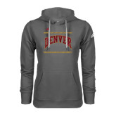Adidas Climawarm Charcoal Team Issue Hoodie-University of Denver Pioneers Bar Stacked
