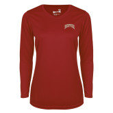 Ladies Syntrel Performance Cardinal Longsleeve Shirt-Primary Mark