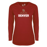 Ladies Syntrel Performance Cardinal Longsleeve Shirt-Denver Soccer