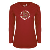 Ladies Syntrel Performance Cardinal Longsleeve Shirt-DU Volleyball
