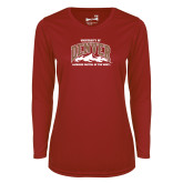Ladies Syntrel Performance Cardinal Longsleeve Shirt-Lacrosse Capital