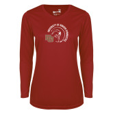 Ladies Syntrel Performance Cardinal Longsleeve Shirt-DU Gymnastics