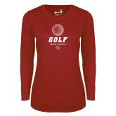 Ladies Syntrel Performance Cardinal Longsleeve Shirt-Denver Golf