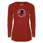 Ladies Syntrel Performance Cardinal Longsleeve Shirt-DU Skiing