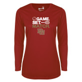 Ladies Syntrel Performance Cardinal Longsleeve Shirt-Game Set Match