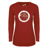 Ladies Syntrel Performance Cardinal Longsleeve Shirt-2018 NCAA Skiing National Champions