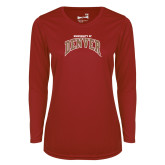 Ladies Syntrel Performance Cardinal Longsleeve Shirt-University of Denver