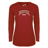 Ladies Syntrel Performance Cardinal Longsleeve Shirt-Denver Rugby