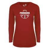 Ladies Syntrel Performance Cardinal Longsleeve Shirt-Basketball
