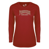 Ladies Syntrel Performance Cardinal Longsleeve Shirt-JR Pioneers Hockey