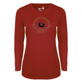 Ladies Syntrel Performance Cardinal Longsleeve Shirt-Pioneers Hockey