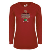 Ladies Syntrel Performance Cardinal Longsleeve Shirt-Pioneer Pride Hockey