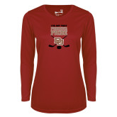Ladies Syntrel Performance Cardinal Longsleeve Shirt-Pioneer Pride DU Hockey