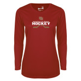 Ladies Syntrel Performance Cardinal Longsleeve Shirt-University of Denver Hockey