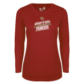Ladies Syntrel Performance Cardinal Longsleeve Shirt-University of Denver Pioneers Hockey