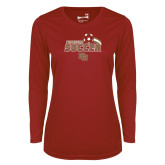 Ladies Syntrel Performance Cardinal Longsleeve Shirt-Pioneers Soccer