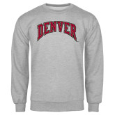 Grey Fleece Crew-Arched Denver