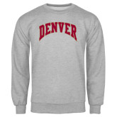 Grey Fleece Crew-Arched Denver 2 Color Version