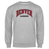 Grey Fleece Crew-Lacrosse