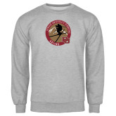 Grey Fleece Crew-Skier Jumping Ski Design