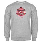 Grey Fleece Crew-2015 Big East Mens Lacrosse