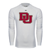 Under Armour White Long Sleeve Tech Tee-DU