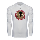 Under Armour White Long Sleeve Tech Tee-Skier Jumping Ski Design
