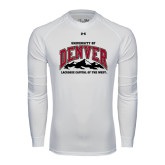 Under Armour White Long Sleeve Tech Tee-Lacrosse Capital of the West
