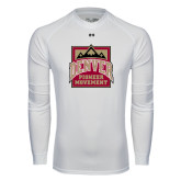 Under Armour White Long Sleeve Tech Tee-Pioneer Movement