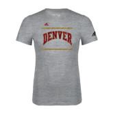 Adidas Sport Grey Logo T Shirt-Adidas Denver Logo