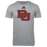 Adidas Sport Grey Logo T Shirt-DU