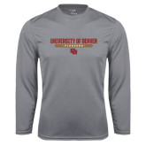 Syntrel Performance Steel Longsleeve Shirt-University of Denver Pioneers Bar Stacked