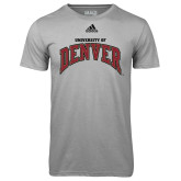 Adidas Climalite Sport Grey Ultimate Performance Tee-Arched University of Denver