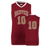 Replica Maroon Adult Basketball Jersey-#10