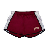 Ladies Maroon/White Team Short-Arched Denver