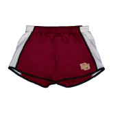 Ladies Maroon/White Team Short-DU