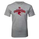 Grey T Shirt-Mens NCAA Lacrosse Champs