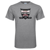 Grey T Shirt-2017 Mens NCAA Hockey National Champions