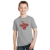 Youth Grey T-Shirt-DU Mens Lacrosse Champions