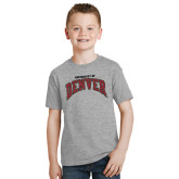 Youth Grey T Shirt-University of Denver