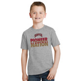 Youth Grey T Shirt-Pioneer Nation