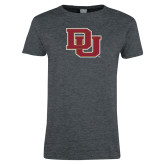 Ladies Dark Heather T Shirt-DU