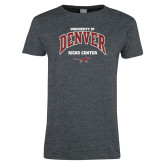 Ladies Dark Heather T Shirt-Ricks Center