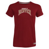 Ladies Russell Cardinal Essential T Shirt-University of Denver