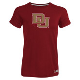 Ladies Russell Cardinal Essential T Shirt-DU