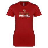 Next Level Ladies SoftStyle Junior Fitted Cardinal Tee-DU Basketball