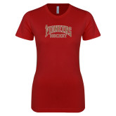 Next Level Ladies SoftStyle Junior Fitted Cardinal Tee-JR Pioneers Hockey