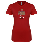 Next Level Ladies SoftStyle Junior Fitted Cardinal Tee-Pioneer Pride Hockey