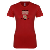 Next Level Ladies SoftStyle Junior Fitted Cardinal Tee-Pioneer Pride DU Hockey