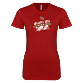 Next Level Ladies SoftStyle Junior Fitted Cardinal Tee-University of Denver Pioneers Hockey
